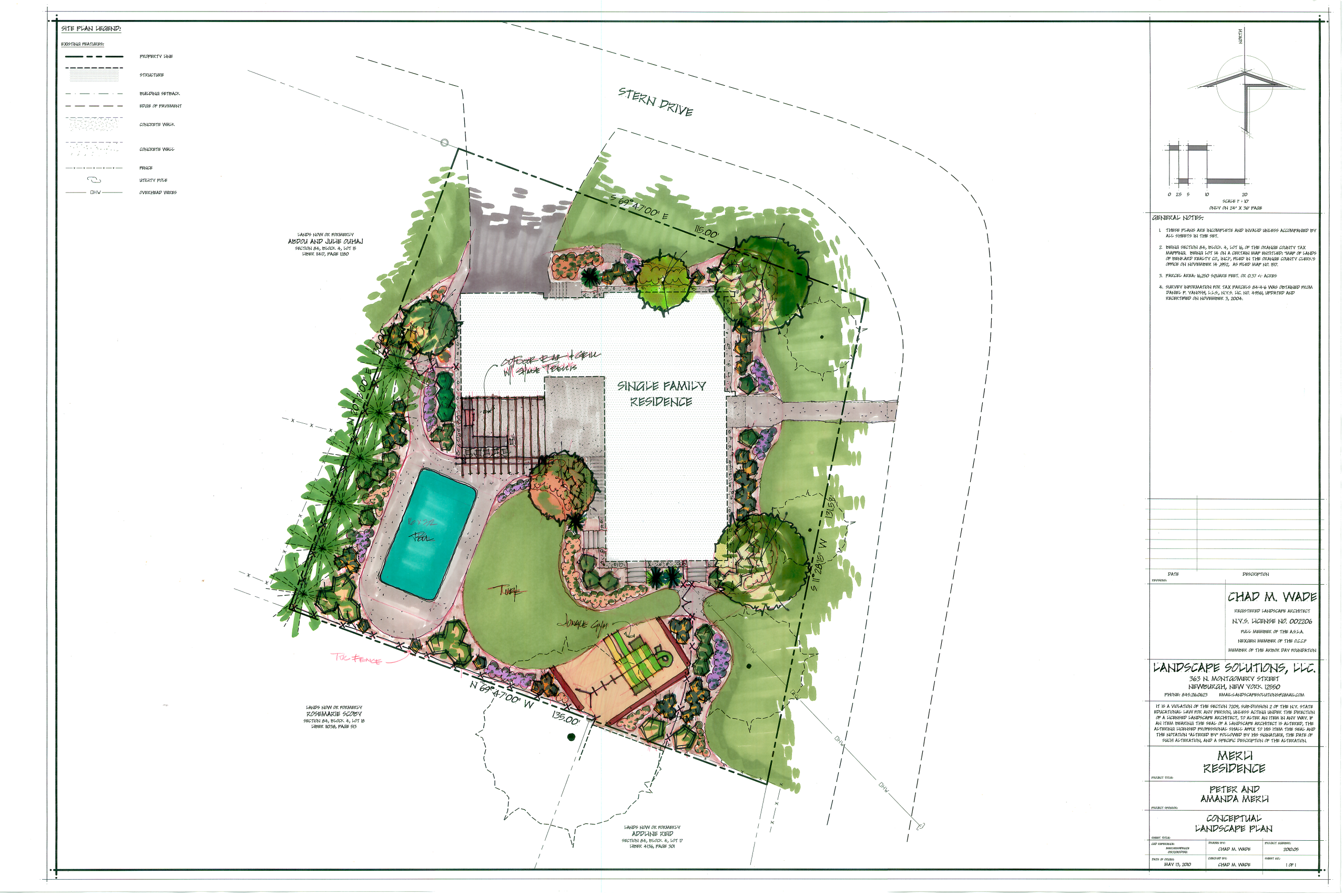 Residential landscape design drawings for Landscape design plans